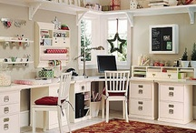 """Red Bug Studio / When you get that """"itch"""" to be creative. Some ideas for my new studio. / by Kat Becnel"""