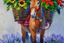 burro con flores