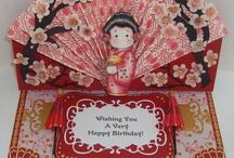 Magnolia stamped cards