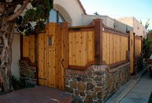 Stone & Wooden Fence