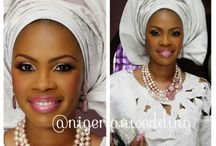Nigerian Wedding Trends: Monotone Aso-oke