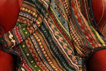 Mixed stich stripe blanket