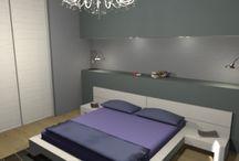 La camera in finta muratura by Consigli D'arredo / Progetto in 3D della camera da letto con elementi in finta muratura