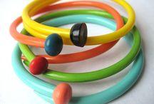 Knitting / upcycled knitting needle bracelets