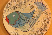 Yuvarlak tabak balık