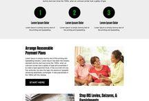 tax landing page design