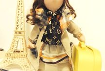Francesinha / Boneca decorativa feita em tecido e com cabelo sintético