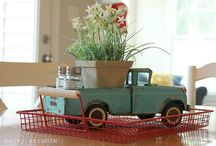 Centerpiece ideas... 100th birthday / old toy truck / by Ginger Cramer
