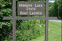 Honeoye Lake Boat Launch State Park / PARKS IN THE FINGER LAKES REGION OF NEW YORK--Open from May to November, the Honeoye Lake Boat Launch State Park, near Honeoye in Ontario County, is a small facility designed to provide boaters with access to Honeoye Lake. It is within easy driving distance of the Harriet Hollister Spencer State Recreation Area. For more information on the boat launch see, http://ilovethefingerlakes.com/recreation/stateparks-honeoyelake.htm  / by ILovetheFingerLakes