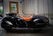 Guest from the past / О. Ray Cortny. Is based on KJ Henderson motorcycle a 1930 and rebuilt by Frank Westphal. Motorcycle, designed in 1936, has a maximum speed of 160 km / h.