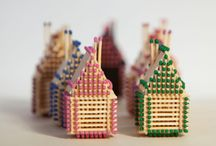 Match Stick House / Handmade Match Stick Houses without glue!  Find out more at: http://www.matchhouse.lv/index.php/lt/  Etsy shop: https://www.etsy.com/shop/matchhouse