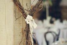 Decoration coeur bois