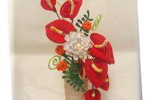 crochet flower 4D