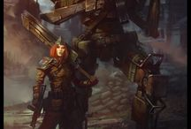 Боевая фантастика / Боевая фантастика (Military Science Fiction) - войны будущего, которые происходят с большим количеством робототехники.