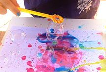 soap bubble painting