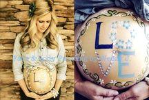 Pregnant belly art