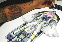 Elefante mano de fatima / Dibujo