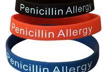 Penicillin Allergy Medical Alert Bracelets / Medical alert bracelets for adults and teens who have an allergy to penicillin.