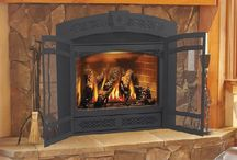 fireplaces / by Linda Bye