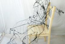 Wire drawing in space