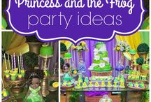 Princess and the frog party/7years old girl