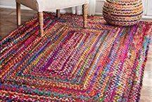 сельский плетёный коврик