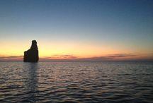 Ibiza / Atardecer en la cala de Port San Miquel en Ibiza!