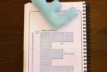 szydełkowy alfabet