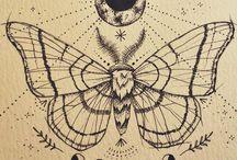 Moths tattoo