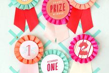 Prize Ribbons and Medals