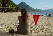 having fun in Mauritius
