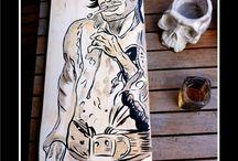 Ink of Life / skateboard création