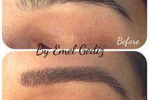 Permanent MakeUp / Kalıcı makyaj çalısması, once ve sonrasi