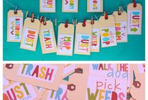 chore board / by Jessi Boller