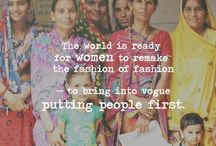 Say YES to Ethical Fashion / This board is about the collective push to make the fashion industry accountable. Some are already making the effort, (Donna Karan & Stella McCartney to name two). We ask that industry affiliates pay fair wages, provide safe working conditions and make products that do not raise havoc on the environment.