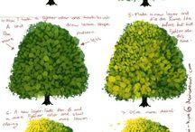 como pintar árboles