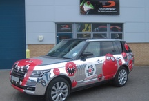 Theo Paphitis Chrome Car Range Rover / This is the 2013 chrome car ready for Comic Relief belonging to Theo Paphitis / Ryman Stationery