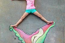 street art chalk