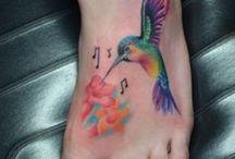 Tetování s kolibříkem
