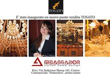 New Tosato sales outlet  / On 13th February 2014 a new Tosato sales outlet has been inaugurated, during the Architects' event in KIEV – AMBASSADOR. Luxurious, valuable, refined are the adjectives that describe Tosato's space at the Ambassador, an area that emanates beauty, elegance and high quality that has always been the trademark of the Italian brand. At present we have two creations: a bedroom belonging the new Desideri collection, and the Sunflower table of the Favoriti collection.