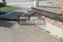 Concrete Ideas / #exposedaggregate designed by #NiceGuyConcrete, concrete contractor in #concrete #concretecontractor