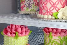 decorated butter cream cakes