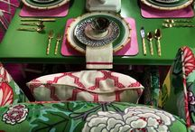 Decor in Pink and Green