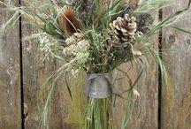 Decor store dry grass