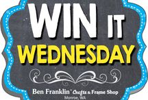 Win It Wednesday Prizes / Enter for a chance to win a beautiful prize! To participate, visit our Facebook page every Wednesday to see our Win It Wednesday post. Simply LIKE, COMMENT or SHARE it and become eligible to win!  Facebook: https://www.facebook.com/bfranklincraftsmonroe