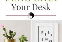 Decoración de interiores: escritorio