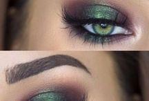 Green eyes Make up