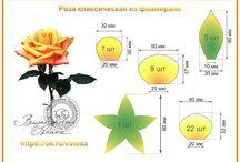 цветы выкройки