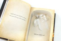 Proposal Book Safes for Rings / Proposing soon?  This book safe will securely hold your ring and be customized with your names on the front jacket.  How can they say no?