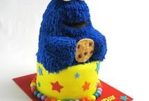 Sesame Street Party / Sesame St birthday Part ideas with Cookie Monster, big bird, Elmo and other characters. Games, cakes, decorations and more